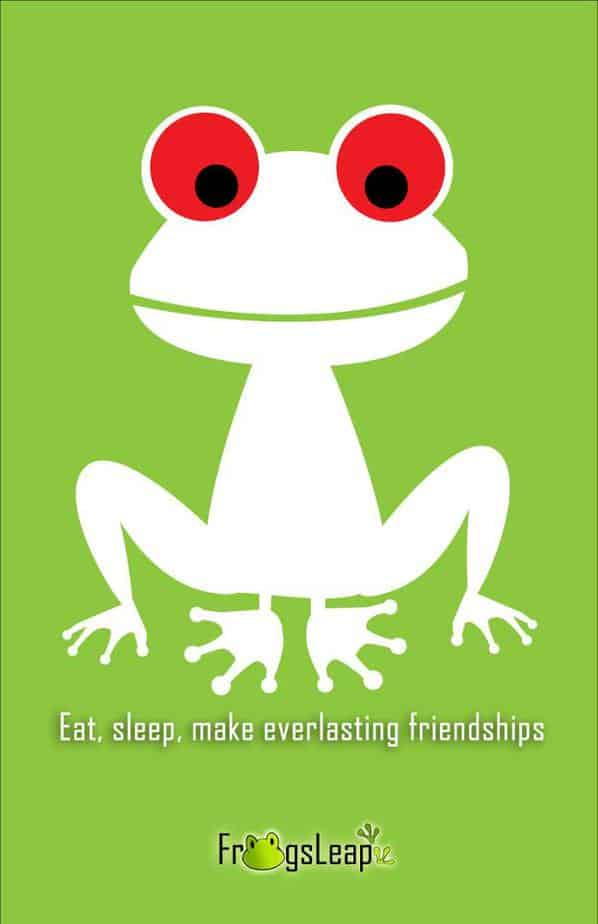 Logo tổ chức từ thiện Frogsleap Foundation