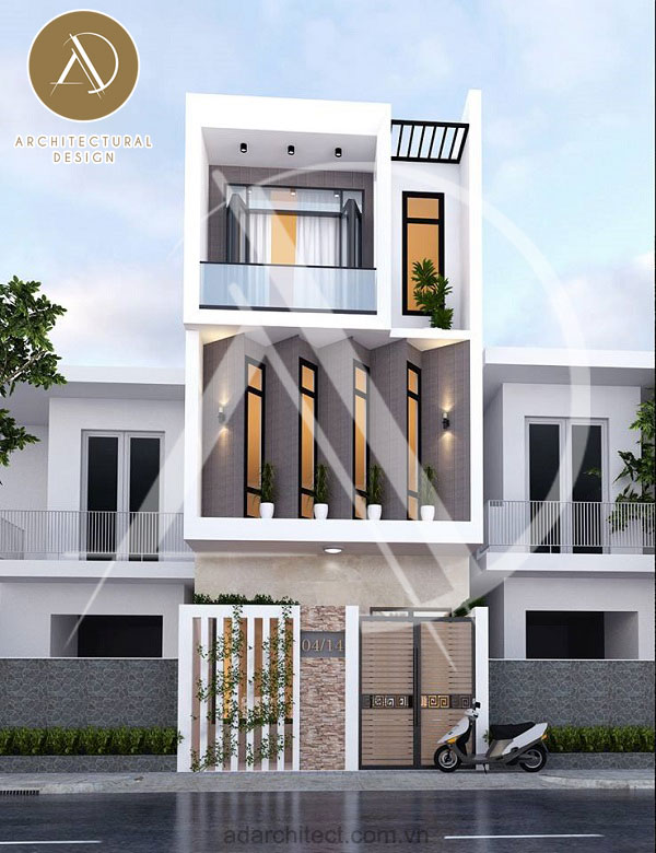 Thiết kế nhà phố 3 tầng tại Dĩ An, Bình Dương