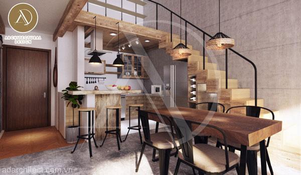 không gian bếp đẹp hiện đại