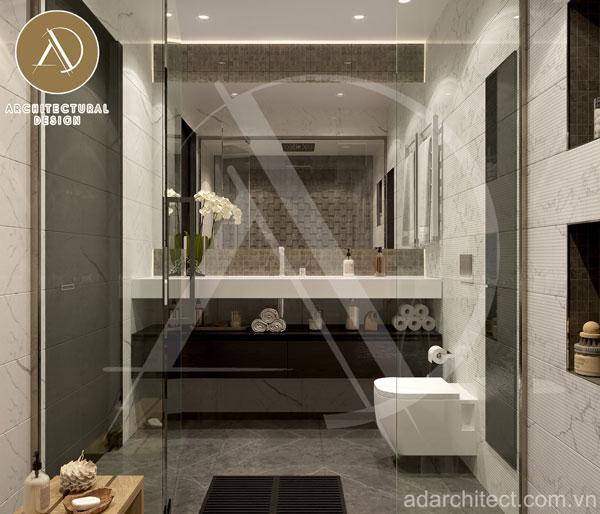 thiết kế phòng tắm sang trọng