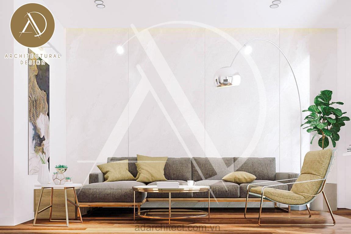 thiết kế nhà phố hiện đại: thiết kế nội thất lầu 1