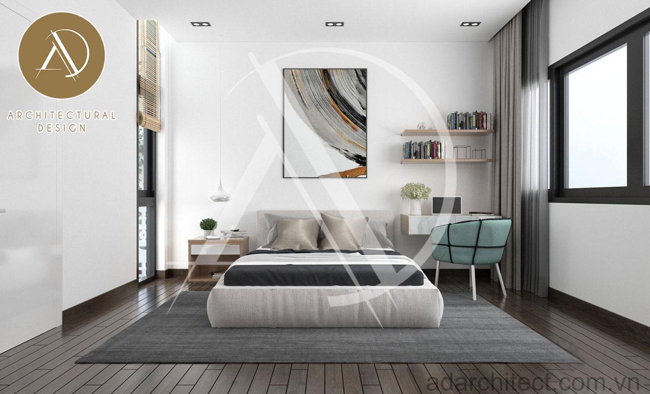 thiết kế nhà phố hiện đại: thiết kế nội thất phòng ngủ