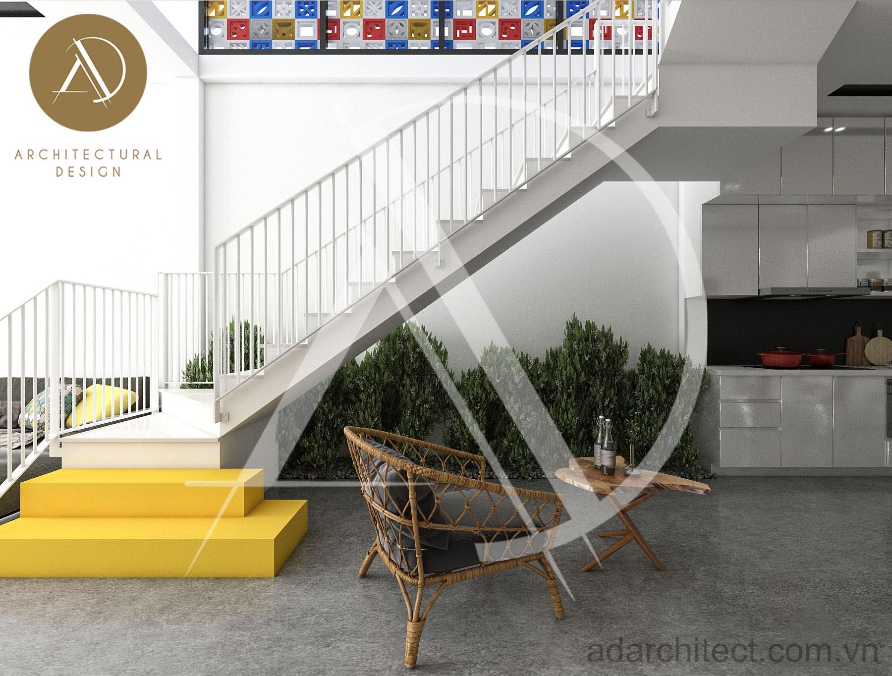 thiết kế nhà phố hiện đại: thiết kế nội thất tầng trệt
