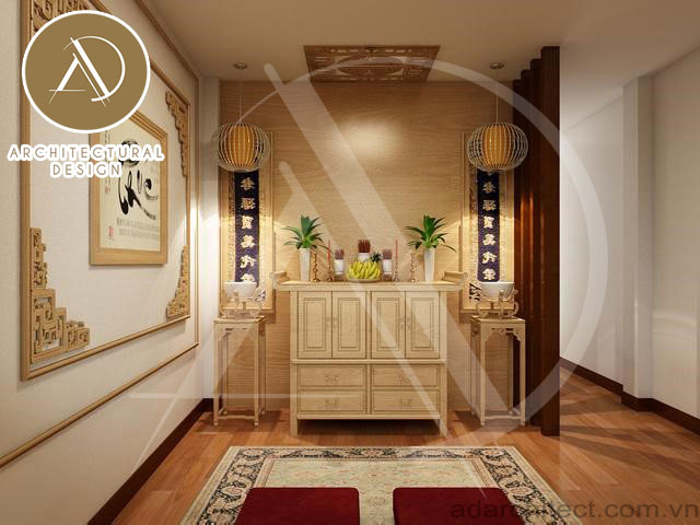 mẫu phòng thờ gỗ đẹp